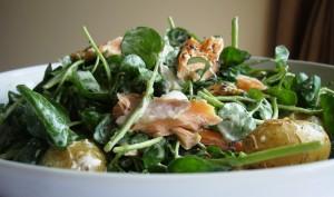 Hot S salmon salad
