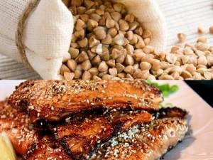 ryba dieta kasza gryczana