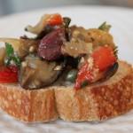 Bruschetta z bakłażanem i łososiem