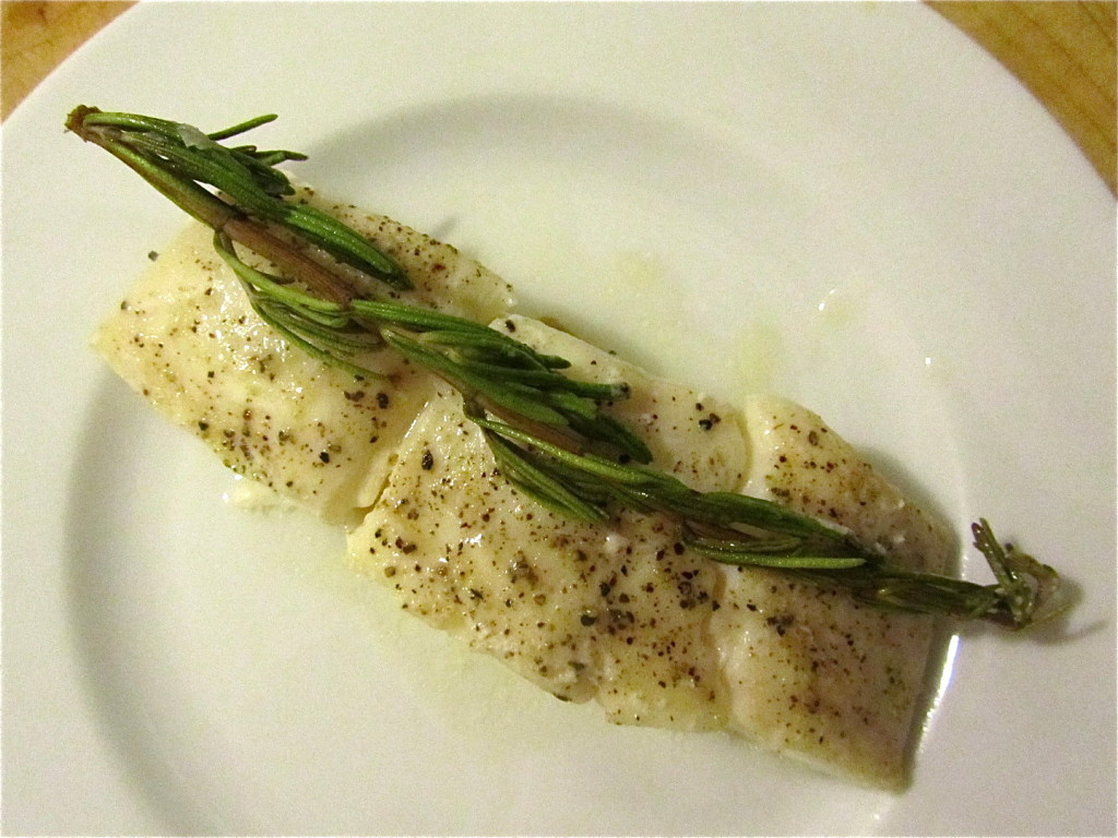 halibut w ziołach