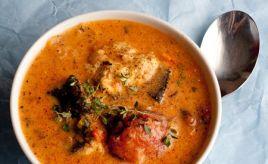 Rustic Tomato & Coconut Fish Soup