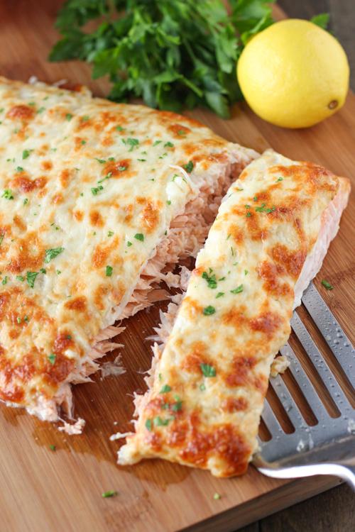 pieczony łosoś z serem