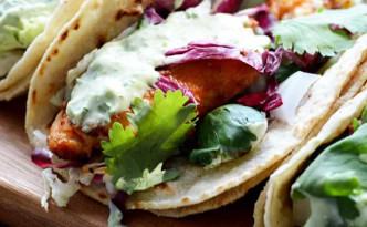 Blackened-Fish-Tacos-with-Avocado-Cilantro-Sauce