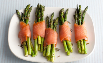 Asparagus and Smoked Salmon Bundles; Giada De Laurentiis