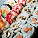 Sushi z zieloną herbatą
