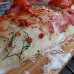 Sandacz w sosie koperkowo pomidorowym