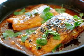 kuchnia wloska losos w mangowym sosie