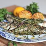 Makrela z grilla w ziołach