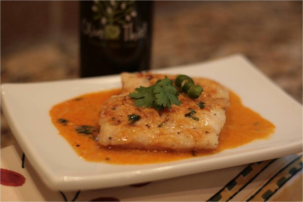 świeża ryba w sosie curry