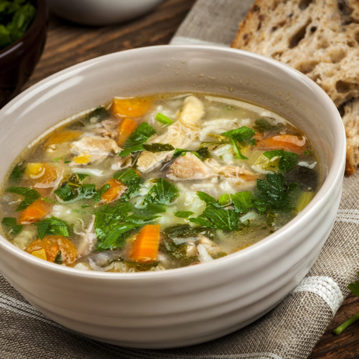 dietetyczna zupa ryżowa