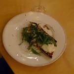 Pyszna chrupiąca ciabatta z pieczarkami, rukolą i mozzarellą