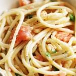 Szybko i smacznie czyli pasta z czosnkiem i łososiem