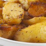 Pieczone ziemniaki z oregano i cytryną do rybki