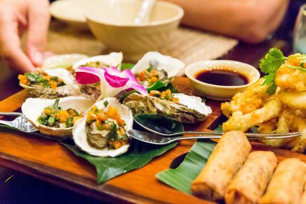 cukinia i ryba na grilla