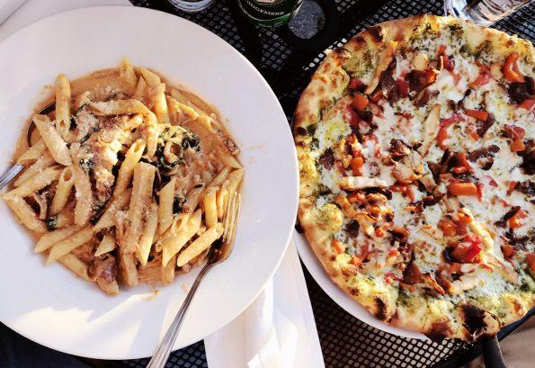 pizza i makaron na obiad